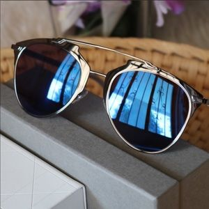 Dior Reflective TUYXT Blue Mirror Sunglasses